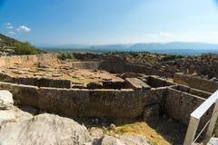 Vieilles ruines de Mycenae Photo stock