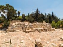 Vieilles ruines du village d'Emmaus photographie stock