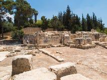 Vieilles ruines du village d'Emmaus photos stock