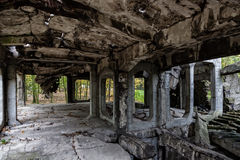 Vieilles ruines intérieures Photographie stock