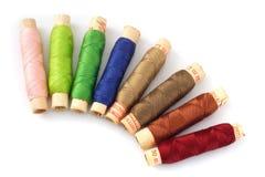 Vieilles soies colorées Images libres de droits