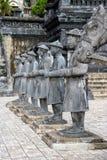 Vieilles statues avec leur principal cheval photo stock