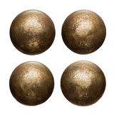Vieilles têtes de rivet en métal image libre de droits