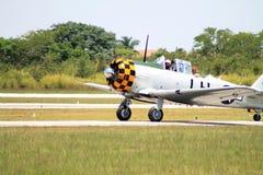 Vieilles terres d'avion de combat Photos libres de droits