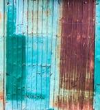 Vieilles texture et surface rouillées de feuille de zinc photographie stock libre de droits