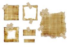 Vieilles textures de parchemin Images libres de droits