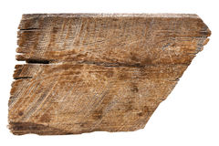 Vieilles textures en bois de planches d'isolement sur le blanc Photos libres de droits