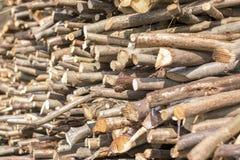 Vieilles textures en bois de rondin et de bois de construction pour le plan rapproché de fond Photos stock
