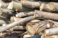 Vieilles textures en bois de rondin et de bois de construction pour le plan rapproché de fond Photos libres de droits