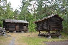 Vieilles, traditionnelles maisons de finn photographie stock libre de droits