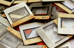 Vieilles trames de glissière images libres de droits