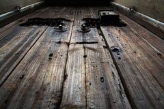 Vieilles trappes en bois Photos stock