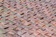 Vieilles tuiles de toit utilisées Photos libres de droits