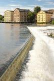 Vieilles usines. Paysage industriel. Norrkoping. Suède Photographie stock