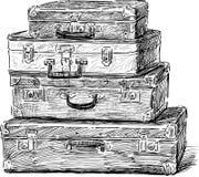 Vieilles valises Images libres de droits