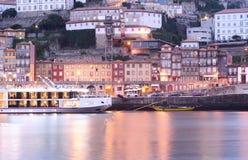 Vieilles ville de Porto et rivière de Douro, Portugal images libres de droits