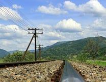 Vieilles voies ferroviaires Images libres de droits