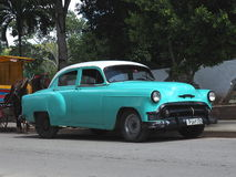 Vieilles voitures américaines au Cuba Photo libre de droits