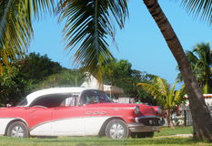 Vieilles voitures américaines au Cuba Photo stock