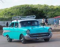 Vieilles voitures américaines au Cuba Images libres de droits