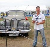 Vieilles voitures de vintage montrées à l'exposition Photographie stock