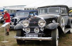 Vieilles voitures de vintage montrées à l'exposition Photographie stock libre de droits