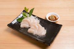 Vieira para o sashimi - estilo japonês do alimento Fotos de Stock Royalty Free