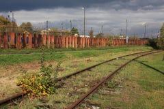 Vieja área industrial imagen de archivo