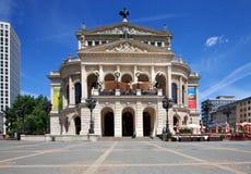 Vieja ópera (operación de Alte) en Francfort Foto de archivo