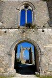Vieja Abbey Ancient Ruins gótica medieval en Francia Imagenes de archivo