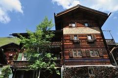 Vieja arquitectura de madera Imagen de archivo
