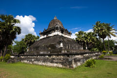 Vieja arquitectura en el templo budista antiguo III Fotos de archivo libres de regalías