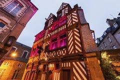 Vieja arquitectura en Rennes Imagen de archivo libre de regalías