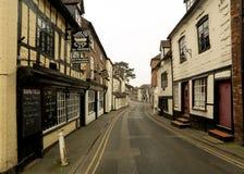Vieja arquitectura inglesa en Cartway, Bridgnorth Fotos de archivo libres de regalías