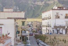 Vieja arquitectura italiana de Italia del sur Nápoles Imagen de archivo