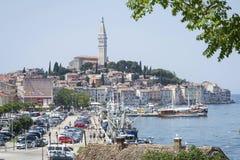 Vieja base de la ciudad en Rovinj Fotografía de archivo libre de regalías