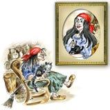 Vieja bruja stock de ilustración