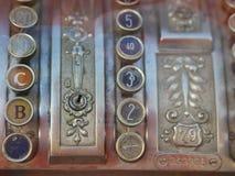 Vieja caja registradora Fotografía de archivo
