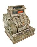 Vieja caja registradora antigua Imagenes de archivo