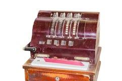 Vieja caja registradora antigua Fotos de archivo libres de regalías