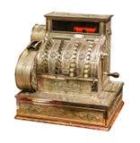 Vieja caja registradora del vintage Foto de archivo libre de regalías