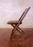 Vieja cara de madera de la silla Foto de archivo libre de regalías