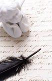 Vieja carta Fotos de archivo libres de regalías