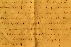Vieja carta Imagen de archivo