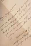 Vieja carta Foto de archivo libre de regalías