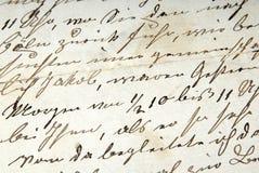 Vieja carta Imágenes de archivo libres de regalías