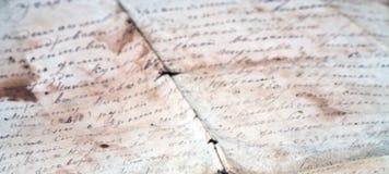 Vieja carta Fotografía de archivo libre de regalías