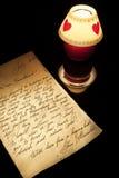 Vieja carta de amor Imagen de archivo libre de regalías