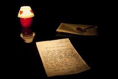 Vieja carta de amor Imágenes de archivo libres de regalías