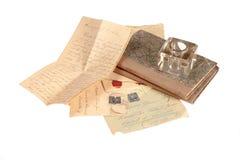 Vieja carta de la vendimia Fotografía de archivo libre de regalías